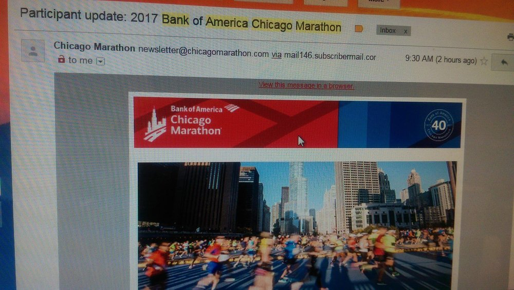 Participant update for the race I was sure I wasn't in