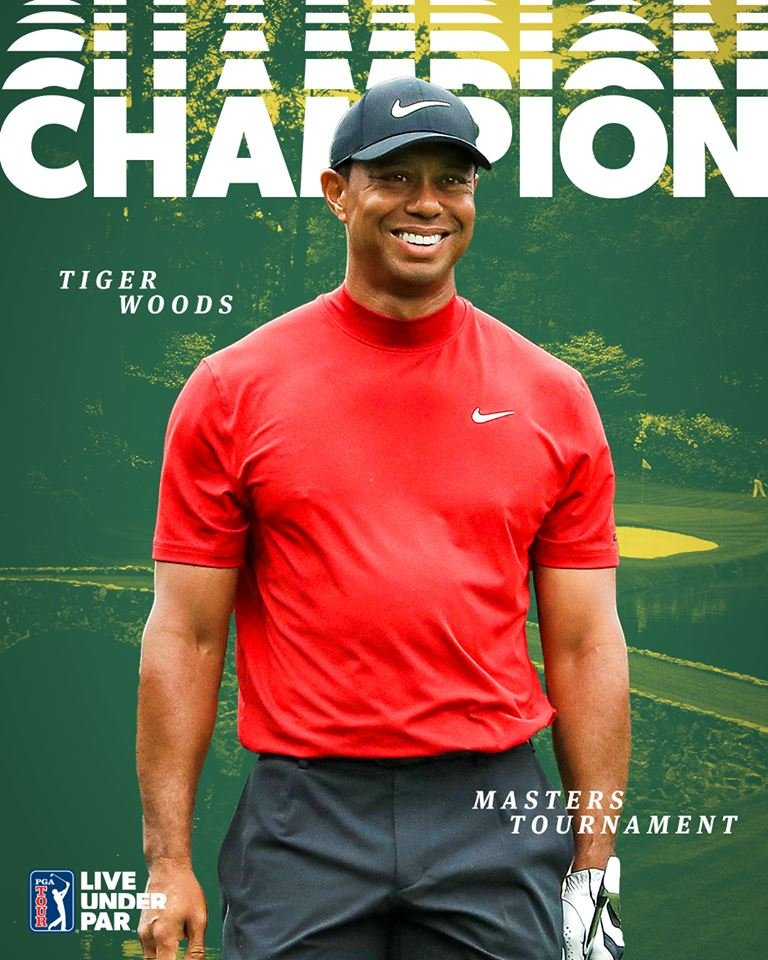 Well done and congratulations, Tiger Woods